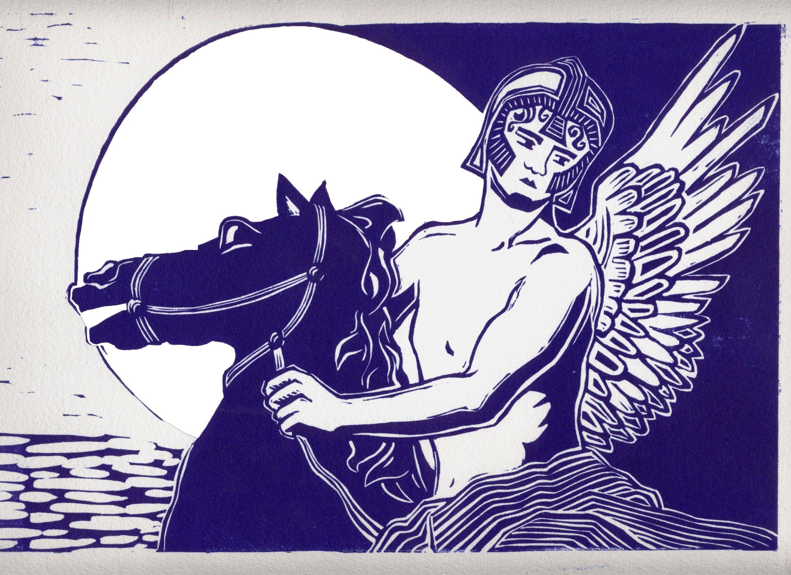 Cavalier au clair de lune